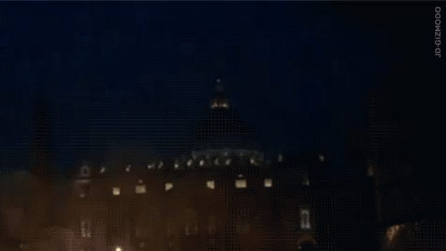 God Strikes Vatican With Furious Lightning Right After Pope's Resignation