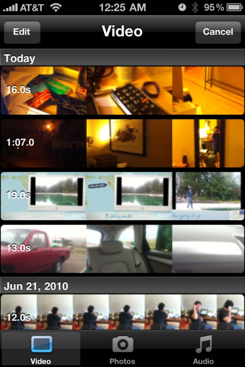 iMovie iPhone App Gallery
