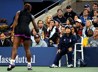 Last Night's Loser: Drama-Loving U.S. Open Fan, Third Row
