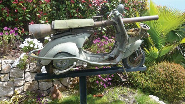 Insane Cannon Equipped Vespa Heads To Auction
