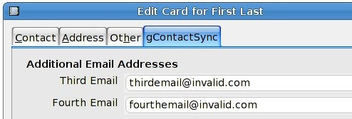 gContactSync Synchronizes Gmail and Thunderbird Contacts