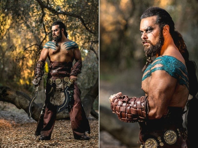 Khal Drogo cosplay is uncanny—and comes with a hilarious performance