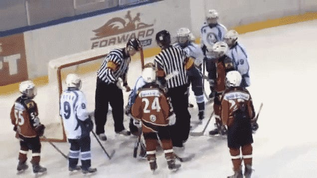 Russian Youth Hockey Game Features Non-Stop Brawling, About 30 People In The Penalty Boxes At Once