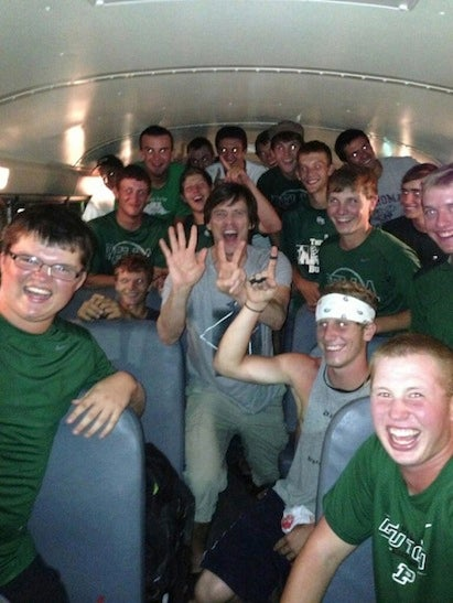 Here's Jim Carrey On A School Bus With A High School Baseball Team