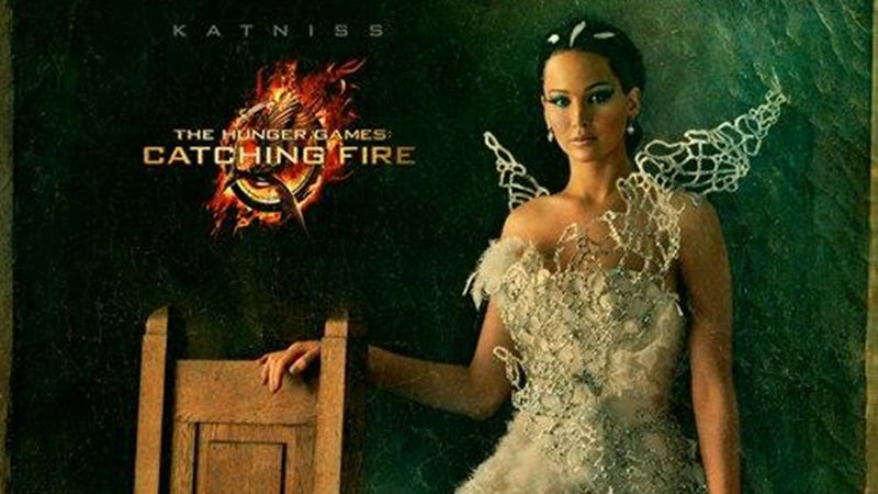 Katniss Wears a McQueen Knockoff in Her Hunger Games Capitol Portrait