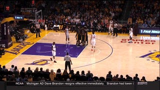 This Embarrassingly Easy Dunk Brought To You By The Los Angeles Lakers