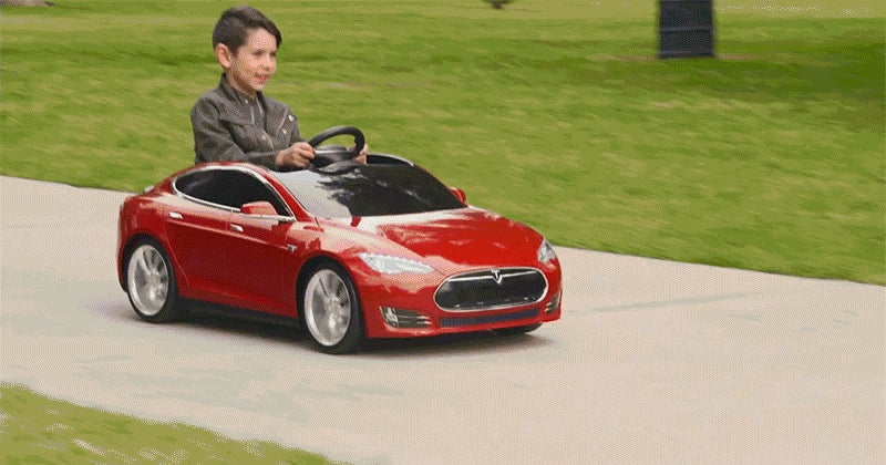 Tesla Model S Radio Flyer Is A Model S For Kids