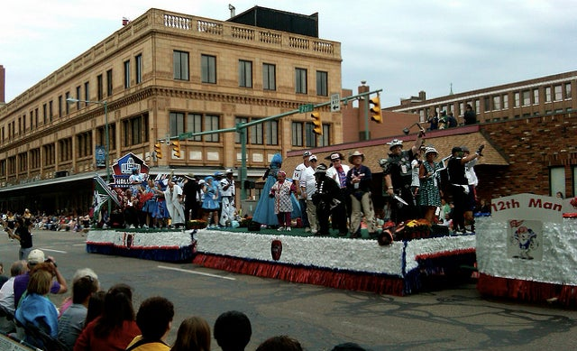 Professional Football Ultimate Fan Association President Hit By Float At Hall Of Fame Parade