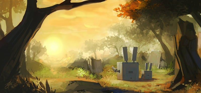 Bunny Bots Reflect On Metal Carrots And Sunsets