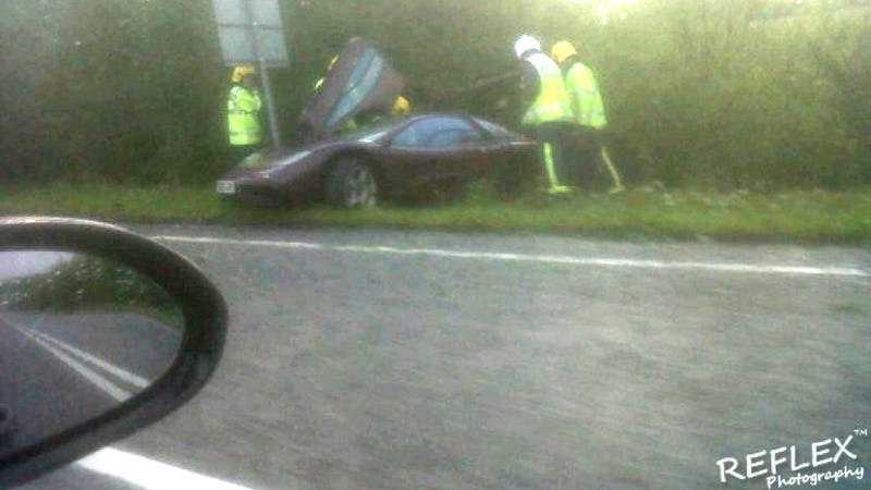 This is Rowan Atkinson's wrecked McLaren F1