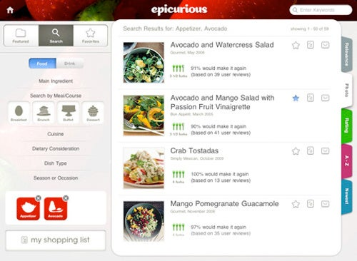 The Epicurious iPad App Is Mouthwatering