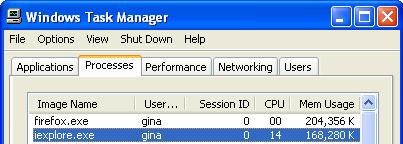 IE7 vs Firefox 2: The memory usage showdown