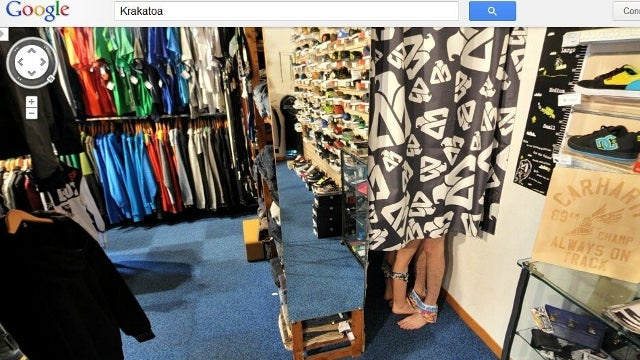 Google Street View Catches Couple Having Sex Inside a French Clothing Store's Dressing Room