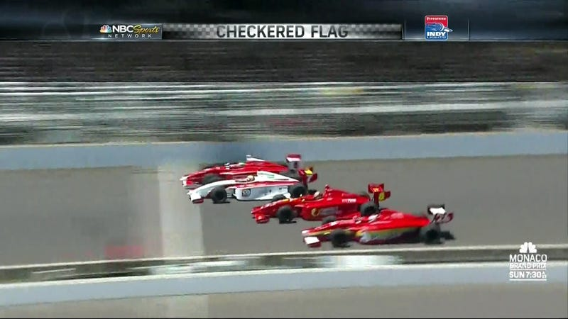 Today's Indy Lights Race Featured An Insanely Close Finish
