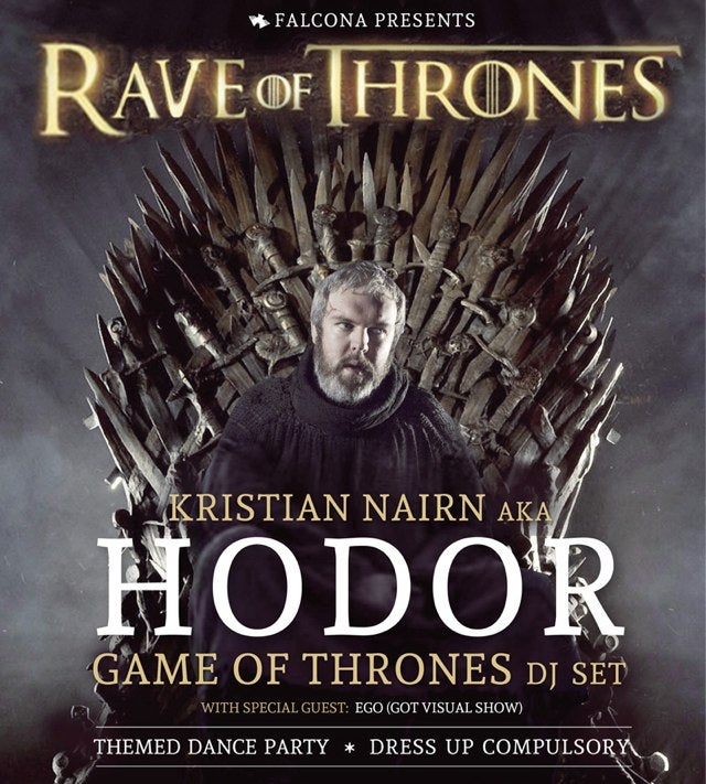 "DJ Hodor Is Embarking on a ""Rave of Thrones"" Tour of Australia"