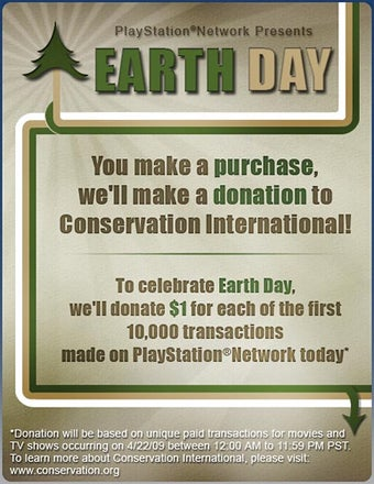 Purchase Videos From PSN On Earth Day, Save The Planet