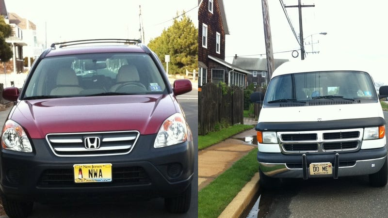 "More Fun With License Plates: Sketchy ""Do Me"" Van Is Often Parked Near ""NWA"" Honda CR-V"