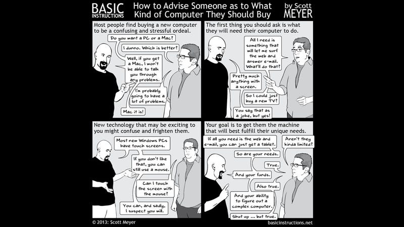 How to Help a Friend Choose a Computer
