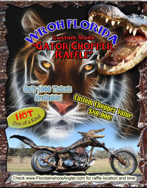 Got A Hundred Bucks? Wanna Win A Bike Made From An Alligator?