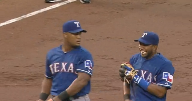 Elvis Andrus Is Still Fucking With Adrian Beltre