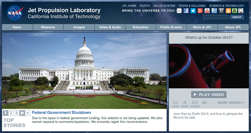 How is the Government Shutdown affecting NASA?