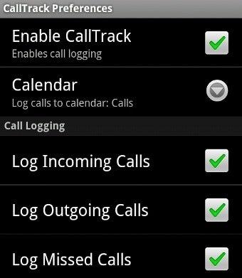 CallTrack Android App Lists All Calls On A Google Calendar