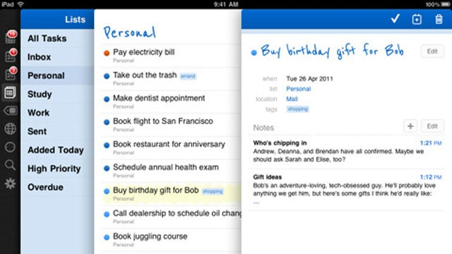 Remember the Milk Finally Comes to the iPad, Adds Gestures and Instant Sync