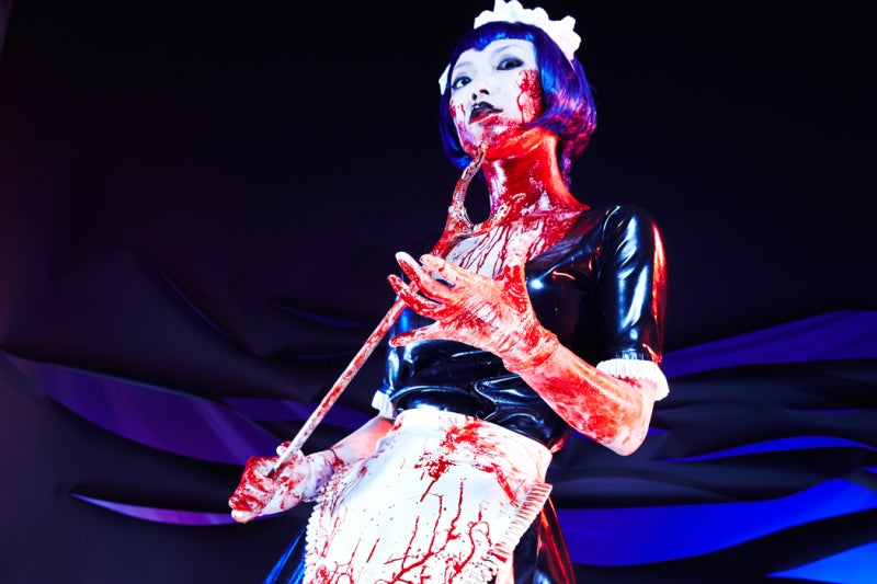 Controversial Game Brought to Life With Tight Rubber, a Nice Lady and Fake Blood