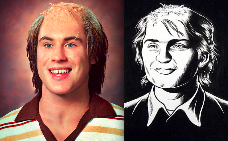 Queasy Recreations Of Black Hole's Mutant Yearbook Photos