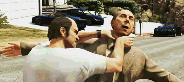 The Grand Theft Auto V Trailers, Summed Up in 3 Animated GIFs