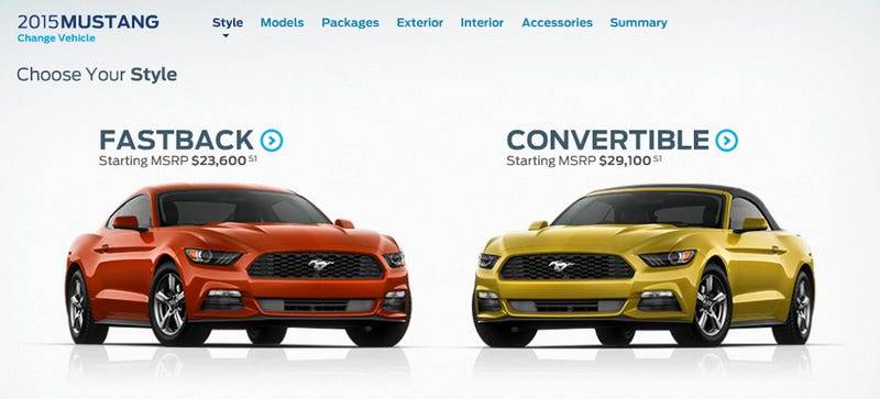 ​Build Your 2015 Ford Mustang Right Now