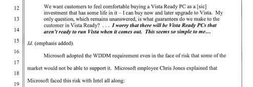 Internal emails prove Microsoft lowered Vista standards for Intel