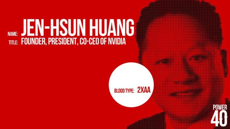 ↓ 24. Jen-Hsun Huang, CEO of Nvidia