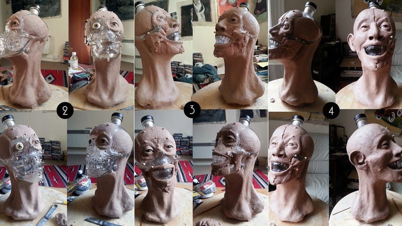 "Forensic artist ""reconstructs"" face of Crystal Head skull vodka bottles"