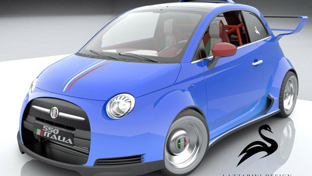 Fiat 500 With Ferrari Power Is Our Kind Of Concept