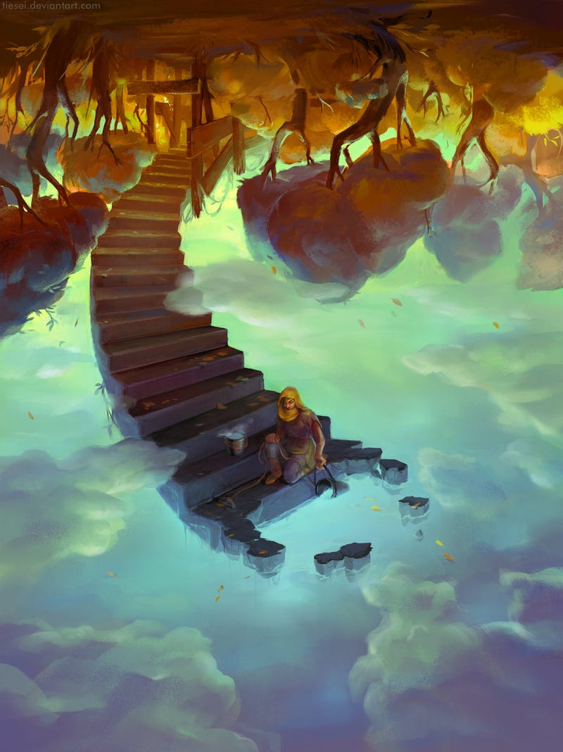 Take the Staircase Down to the Clouds to Fetch a Pail of Water