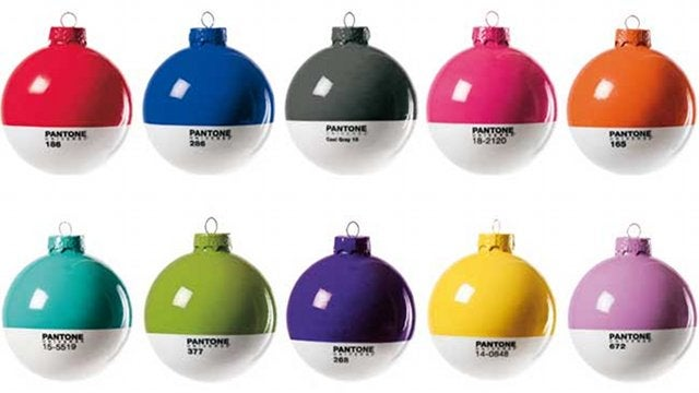 Daily Desired: Pantone Ornaments Will Make You Wish It Was Christmas All Year