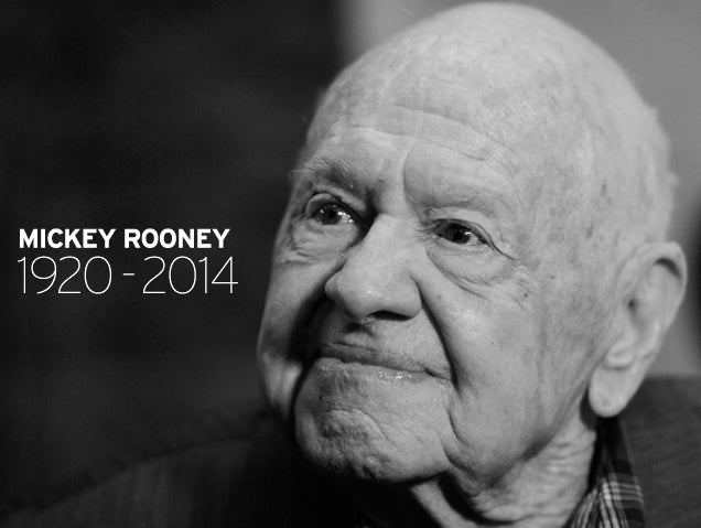 Mickey Rooney, Dead at 93
