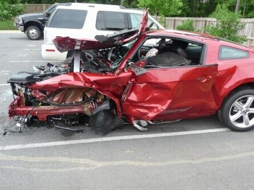 Three Teens Obliterate 2010 Mustang On Test Drive