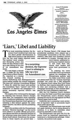 Bumbeck Makes the LA Times