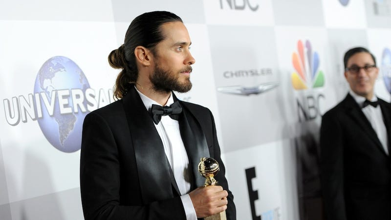 "​Jared Leto's ""Distinguished"" Man Bun Created Just for Golden Globes"