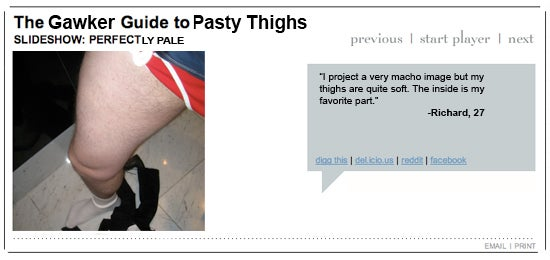 Gawker's Guide To Pasty Thighs
