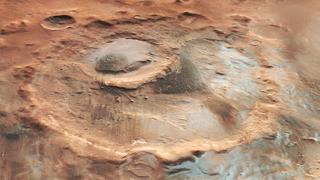 Contempla el invierno sobre la superficie de Marte, y en 3D