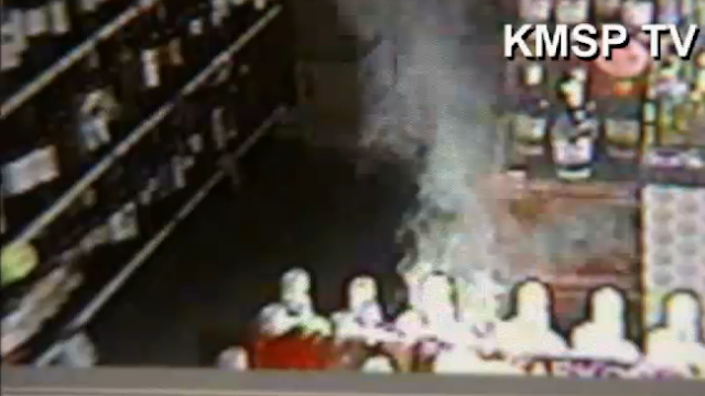 Watch a Vodka Bottle Inside a Liquor Store Accidentally Catch on Fire from Sunlight