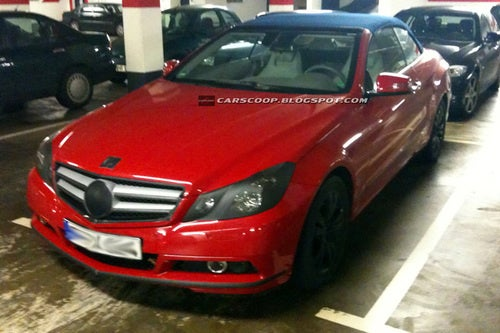 New Mercedes E-Class Convertible Hiding In Garage