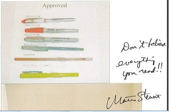 Martha Stewart Impugns Our Integrity!