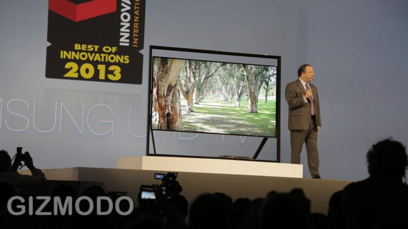 Samsung's Giant Amazing Ultra-HD TVs Are Imprisoned In Horrible Metal Bars