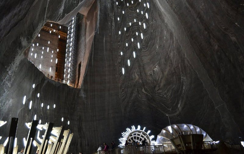 Is there an alien base in the heart of this Romanian salt mine or what?
