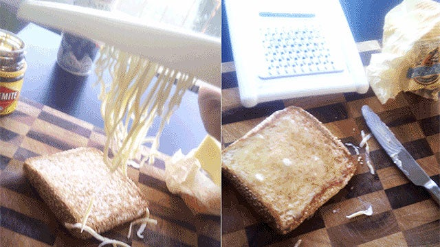 Use a Cheese Grater for Easier Spreading of Cold, Hard Butter