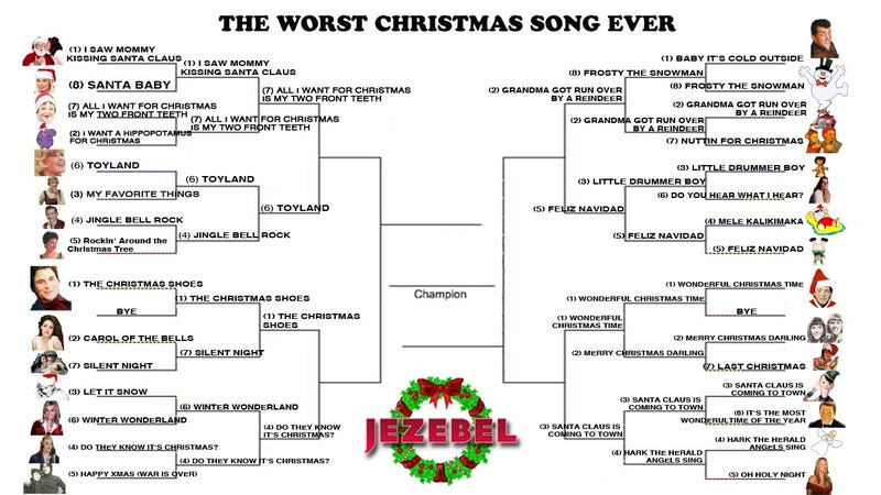 Worst Christmas Song Ever: It's Down To The Hated Eight